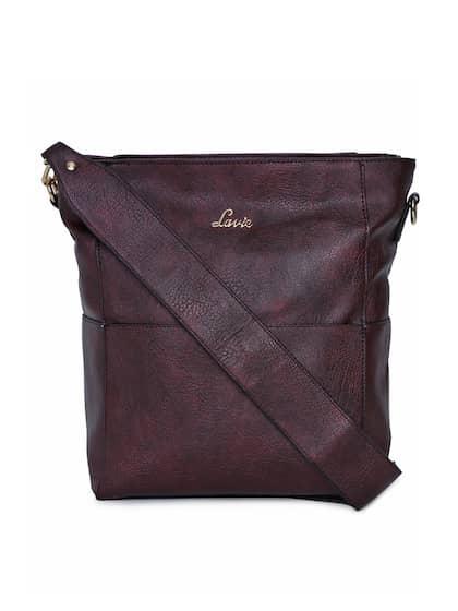 Lavie Maroon Solid Sling Bag