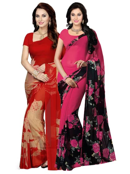 db24f92ac043f Georgette Sarees - Buy Georgette Saree Online in India
