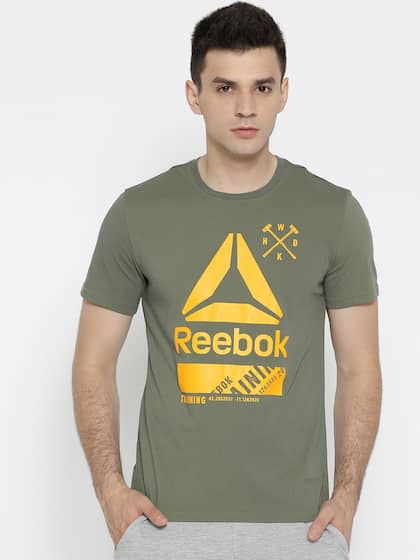 918fc2a12f841d Reebok Green Tshirt - Buy Reebok Green Tshirt online in India
