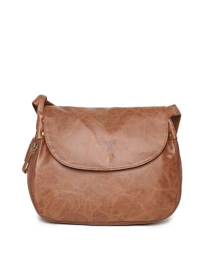 Baggit Brown Solid Sling Bag