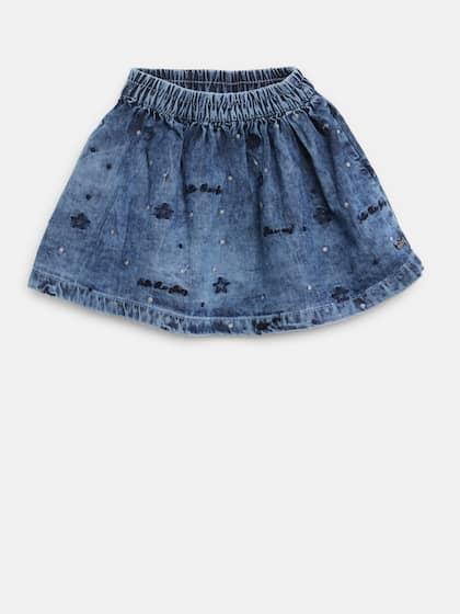 443d47ecc6 Denim Skirts - Buy Denim Skirts for Women Online | Myntra