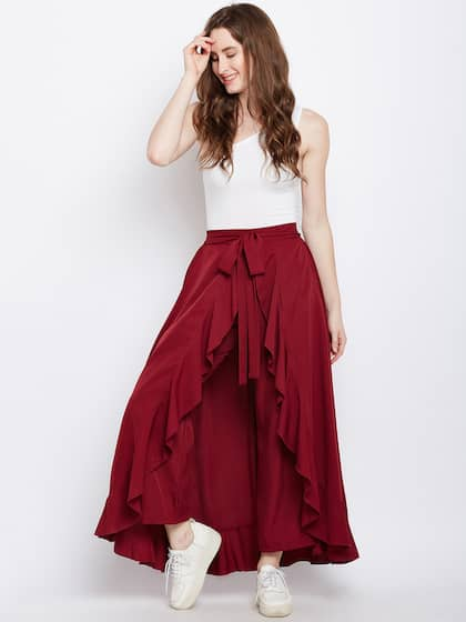 6339b3daa75 Berrylush. Women Skirt with Trousers