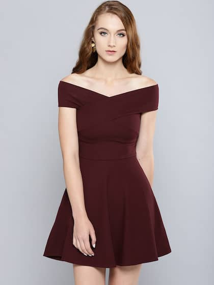 e1dce25c3fbd Off Shoulder Dress - Buy Off Shoulder Dresses Online | Myntra