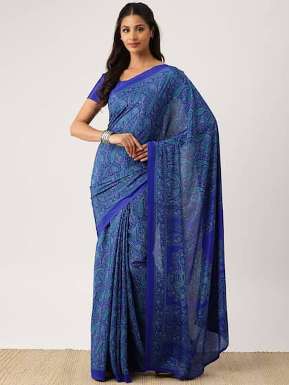 Stitched Saree Buy Pre Stitched Sarees Online In India Myntra