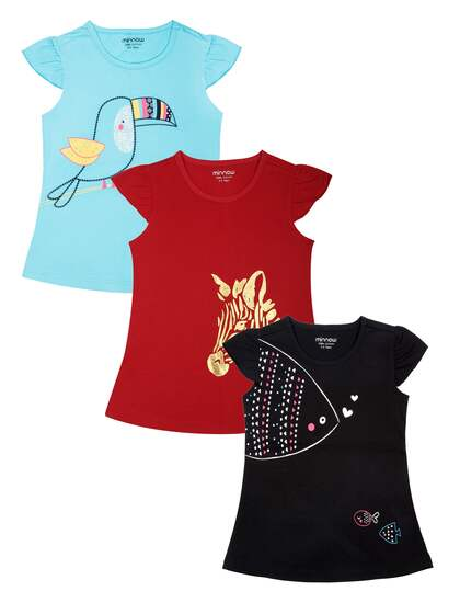 minnow. Girls Pack Of 3 T-shirts 64034e7c14bb