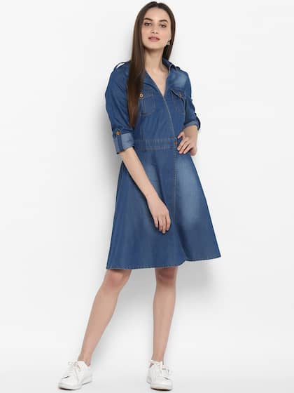30e38a2c1b Denim Dresses - Buy Denim Dresses Online in India | Myntra