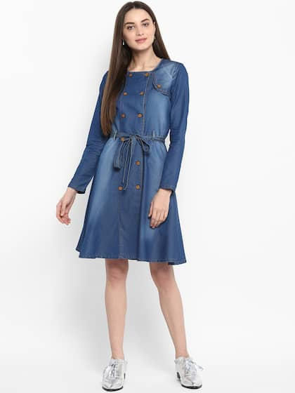 2a39339b86e Denim Dresses - Buy Denim Dresses Online in India