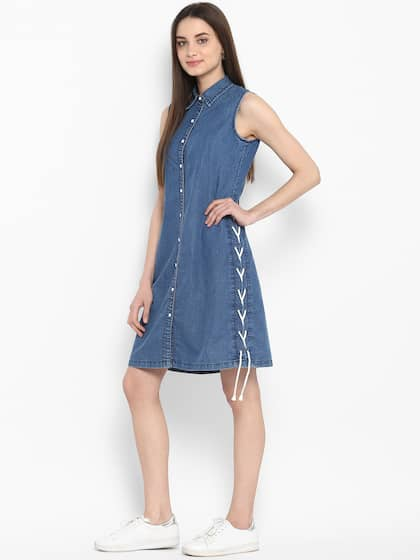 a01d4a2214 Denim Dresses - Buy Denim Dresses Online in India
