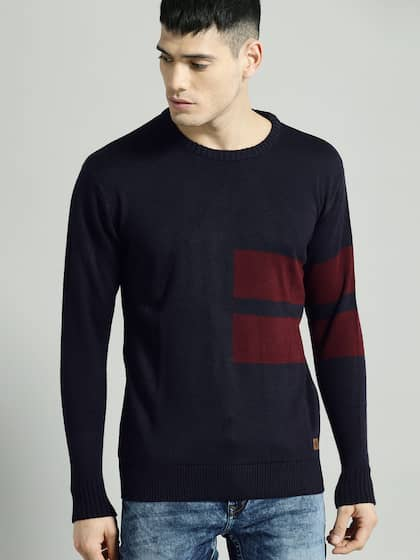 94d96df3 Sweaters for Men - Buy Mens Sweaters, Woollen Sweaters Online - Myntra