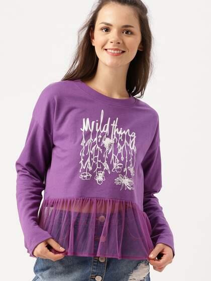 ae15264ddb Purple Tops - Buy Purple Tops Online in India
