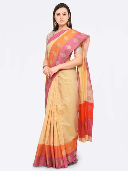 07ae4bdbb3 Cream Saree | Buy Cream Colour Sarees Online in India
