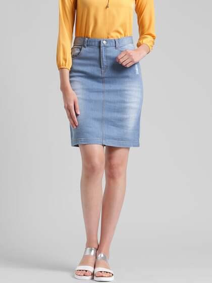 74369f664e Denim Skirts - Buy Denim Skirts for Women Online | Myntra