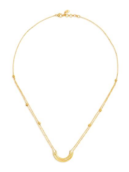 Mia by Tanishq 14-Karat Yellow Gold Necklace