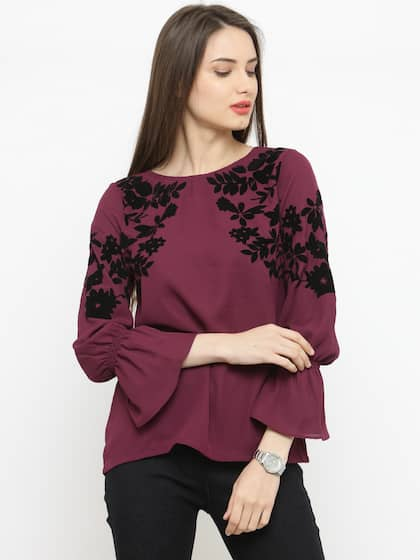 Ladies Tops Buy Tops T Shirts For Women Online Myntra