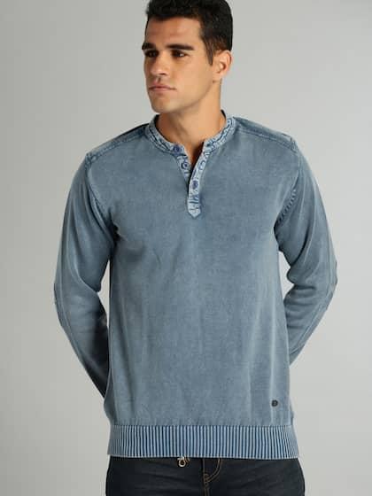 Henley Neck Sweaters Buy Henley Neck Sweaters Online In India