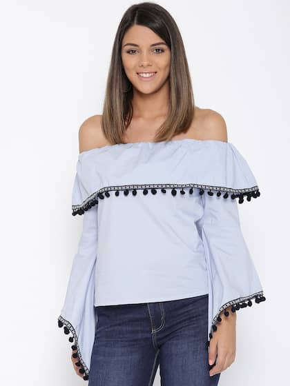 6c702d088dab3c Off Shoulder Tops - Buy Off Shoulder Tops Online in India