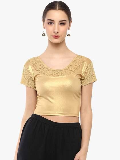 d9607e674db53 Gold Sarees Sarees Blouse - Buy Gold Sarees Sarees Blouse online in ...