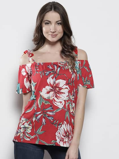 a64878f5f9e Cold Shoulder Tops - Buy Cold Shoulder Tops for Women Online - Myntra