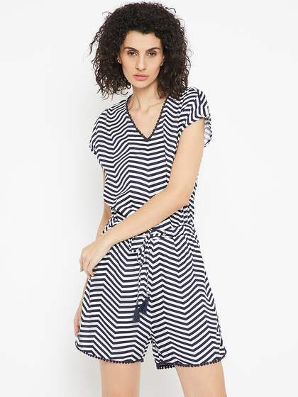 f707ba58ac Striped Jumpsuit - Buy Striped Jumpsuit online in India