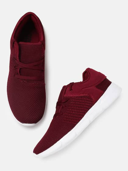 Crew STREET Men Maroon Running Shoes