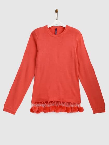 09b0ef87a Girl s Sweaters - Buy Sweaters for Girls Online in India