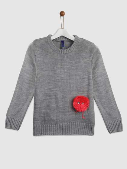 Girls Sweaters Buy Sweaters For Girls Online In India Myntra