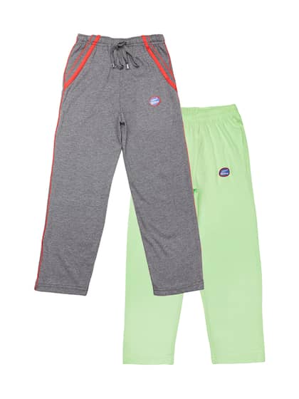 e1557821cef3 VIMAL JONNEY Kids Boys Pack of 2 Grey   Green Solid Track Pants