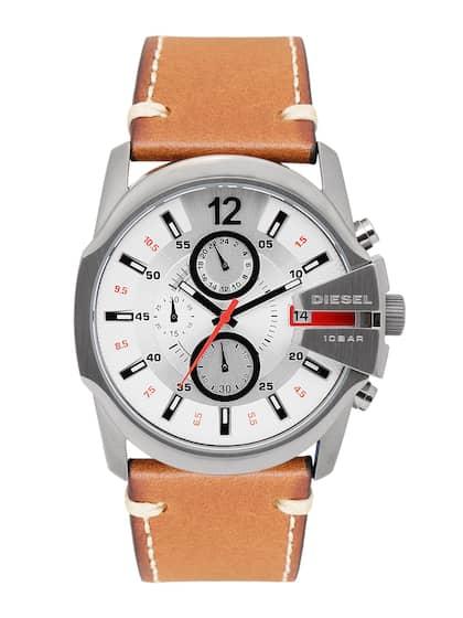 98b953940b7 DIESEL Men Silver-Toned   White Chronograph Watch DZ4436 OR