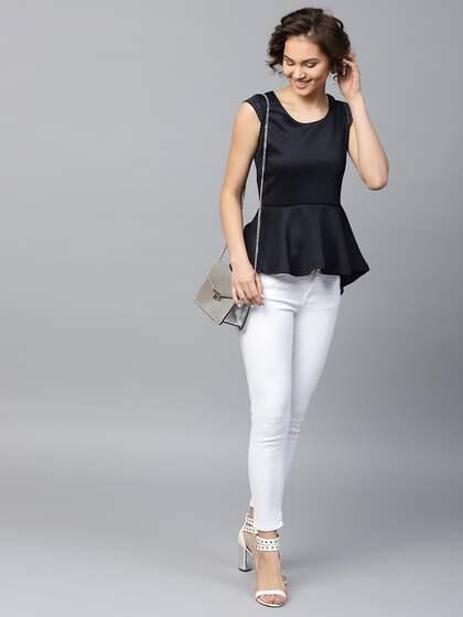 9afd457755bbb8 Peplum Tops - Buy Peplum Tops for Women Online - Myntra