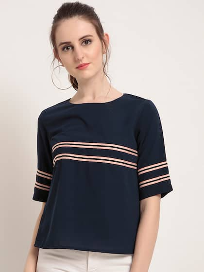 e2bbfbd5c38 Rare Navy Blue Blue Tops - Buy Rare Navy Blue Blue Tops online in India