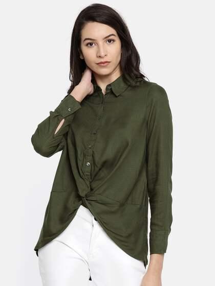 Vero Moda Olive Shirts Buy Vero Moda Olive Shirts online