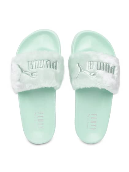newest 503b1 dd694 Fur Flip Flops - Buy Fur Flip Flops online in India