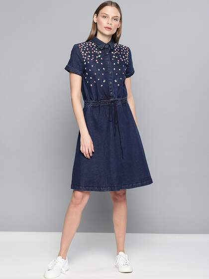 41ceda8ddd06 Denim Dresses - Buy Denim Dresses Online in India | Myntra