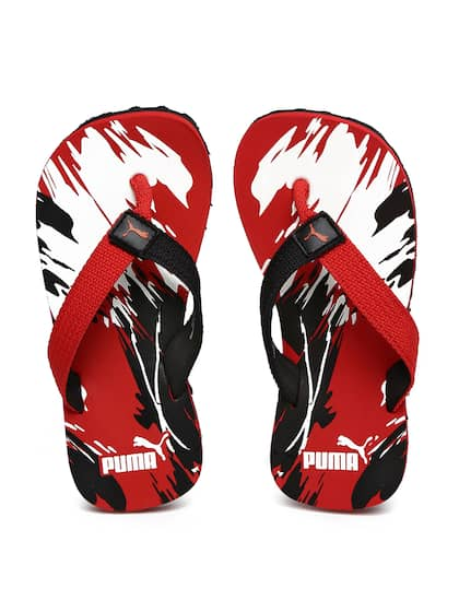 42e6a36509b1 Puma Kids Black   Red Printed Terry GU PS IDP Thong Flip-Flops