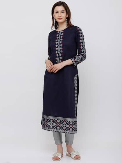 a811c26b34 Cotton Kurtas - Buy Cotton Kurta Online in India   Myntra
