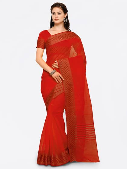 0d4d813a0e95b8 Red Saree - Buy Red Color Fashion Sarees Online