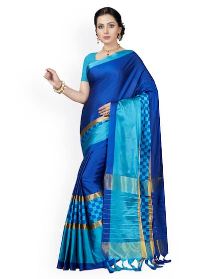 24d5d81532 Blue Saree - Buy Blue Color Women Sarees Online | Myntra