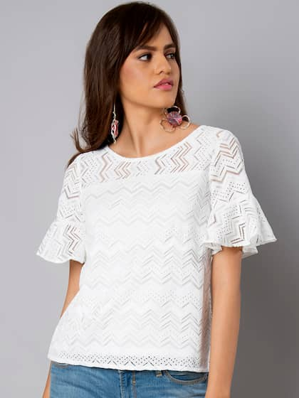 f0325b8c17216 Faballey Lace Tops - Buy Faballey Lace Tops online in India
