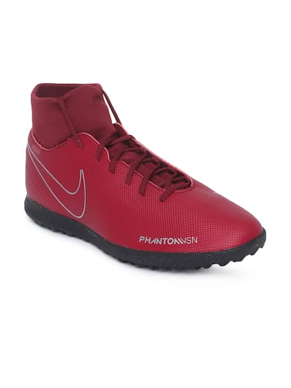 377661dd9745 Nike Unisex Red Synthetic High-Top OBRA 3 CLUB DF TF Football Shoes