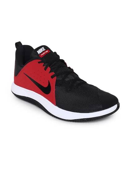 Nike Men Red & Black FlyBy Low Basketball Shoe