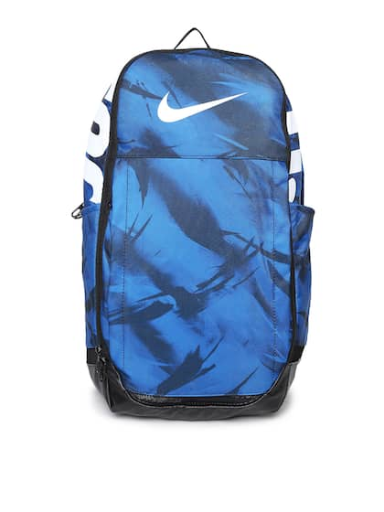 9ebe51bc0e1b Nike Unisex Blue   Black Brand Logo Backpack
