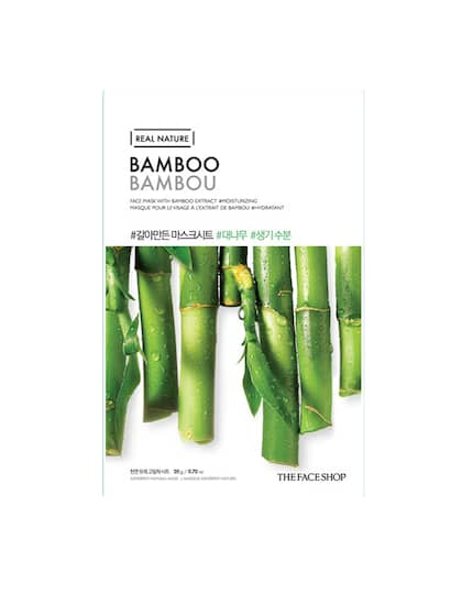 The Face Shop Real Nature Hydrating Bamboo Face Mask 20 g