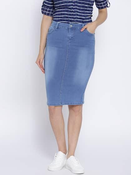 61e9c051803719 Denim Skirts - Buy Denim Skirts for Women Online | Myntra