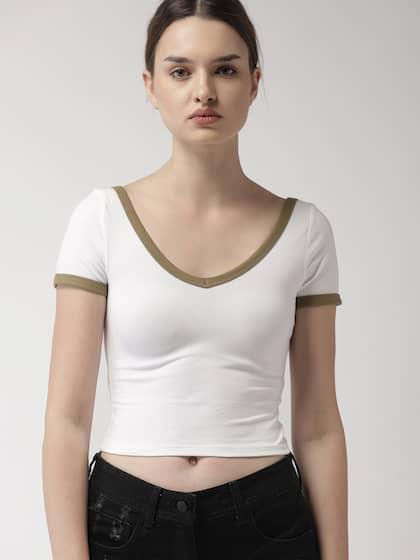 83c49d9065cb85 Women White Tops - Buy Women White Tops online in India