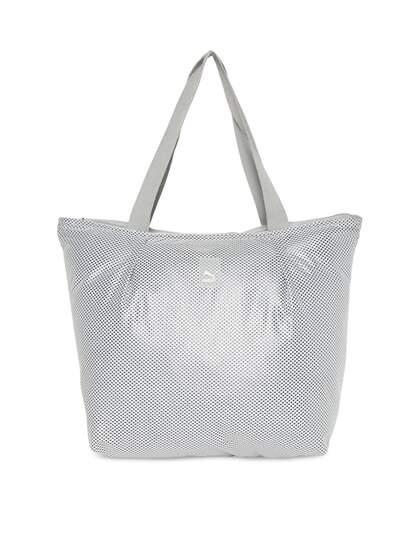 Puma Grey Printed Shoulder Bag