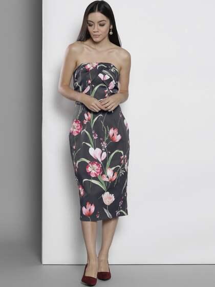 65cbfd448a14 Strapless Dresses - Buy Strapless Dress Online | Myntra