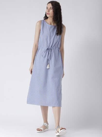 85d02e200e0 Midi Stripe Dresses - Buy Midi Stripe Dresses online in India