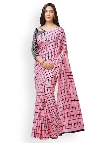 6e0279bf39ee8b Checked Saree - Buy Elegant Checked Sarees Collection Online