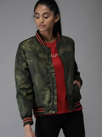 c39b8e61baac7 Camouflage Jacket - Buy Trendy Camouflage Jackets Online | Myntra