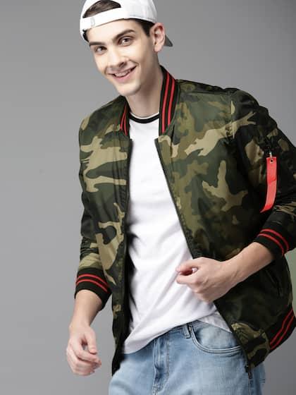3ff889fbc Camouflage Jacket - Buy Trendy Camouflage Jackets Online   Myntra